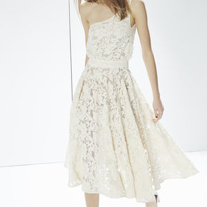 REBECCA MINKOFF Xs 0 dress ivory Embroidered maxi